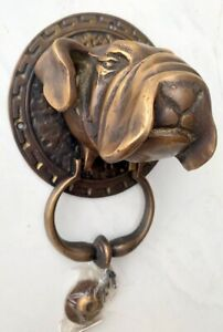 "BULL heavy Door Knocker SOLID 100/% BRASS vintage age style house steer COW 7/"" B"