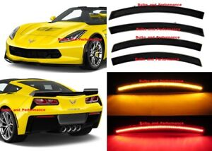 For-2014-2020-C7-CORVETTE-SMOKED-LENS-LED-SIDE-MARKERS-FRONT-amp-REAR-SET