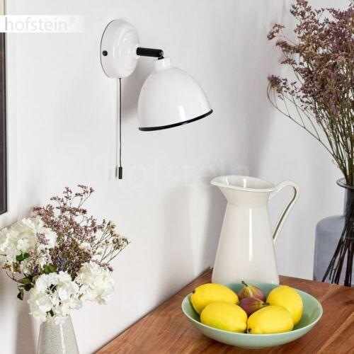 runde Retro Wand Lampen Flur Strahler Schalter Wohn Schlaf Zimmer Leuchten weiß