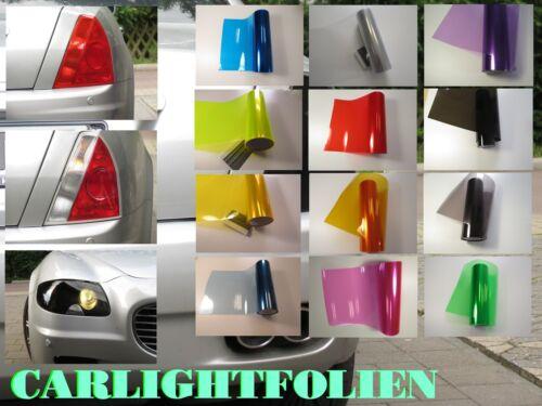 Carlight Scheinwerferfolie Rückleuchten Folie Transparent Glanz Licht Tönung