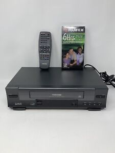 Toshiba-Vcr-Vhs-Recorder-W-512-With-Remote-Tested
