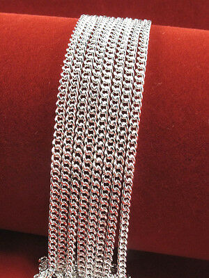 "Wholesale Lots 5pcs Silver 1.4mm Rolo Curb Chain Necklace 16"" -30"" New"