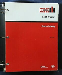 1985-1988 CASE IH 3594 TRACTOR PARTS CATALOG MANUAL W/BINDER VERY NICE
