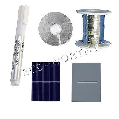 40pcs 39x39 PV Solar Cell & Tab Bus Wire Pen for DIY 10W Solar Panel