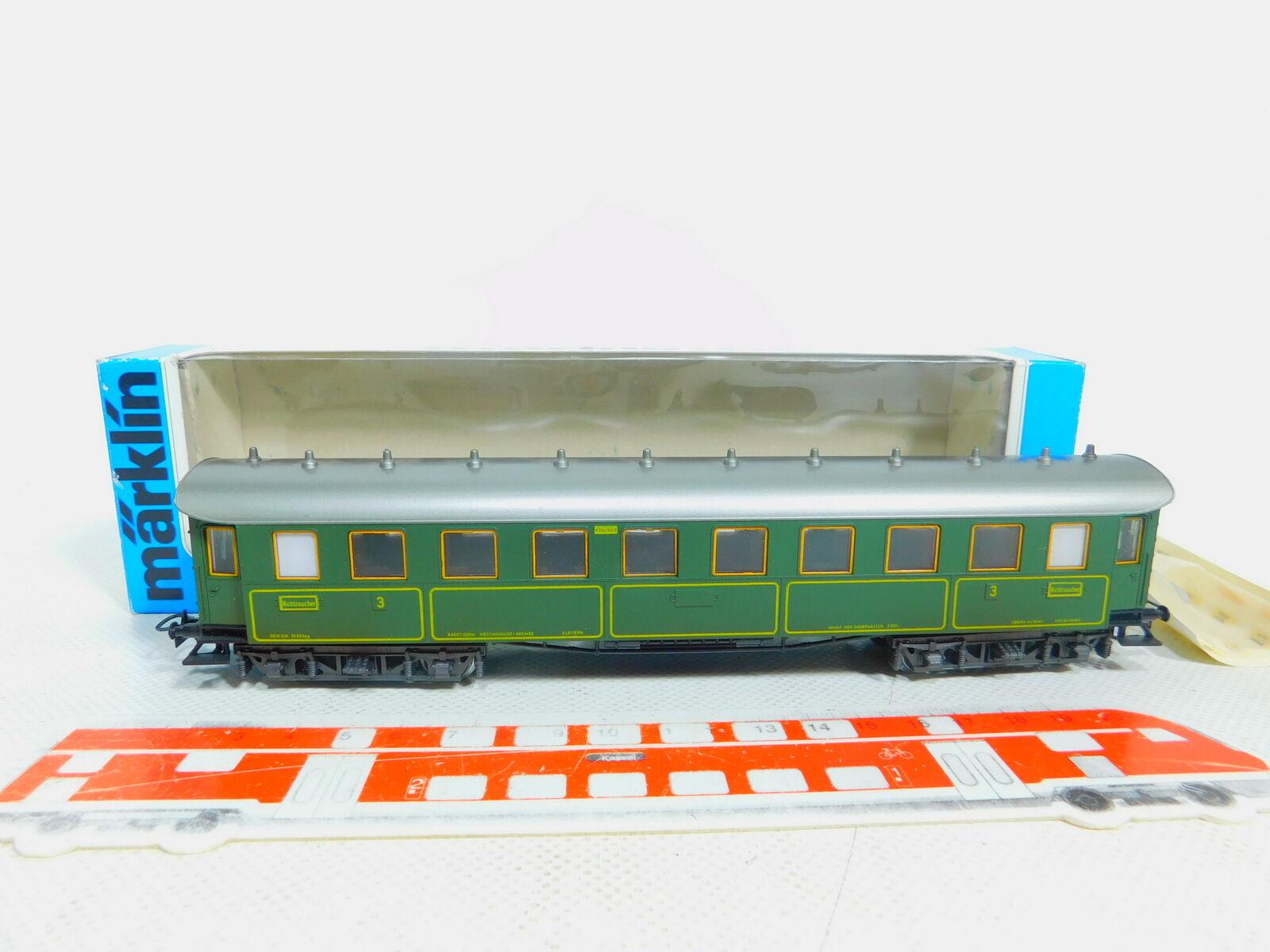 By522-0, 5 Märklin H0 Ac 4135 Passenger Car D-Train Wagon K.Bay.sts.b. Ovp