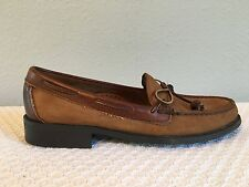 Sebago Brown Leather Slip On Boat Casual Shoes Women's Size 7 S