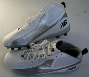 fast color rich and magnificent factory outlet Details about New Balance 793 Mens Football Cleats Size 16 White Silver