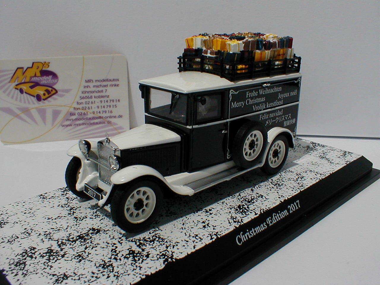 Schuco 02927 - Mercedes-Benz L1000 Weihnachten 2017 in   weiß-schwarz   1 43