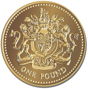 One Pound Coin Round Mouse Mat British Sterling Money