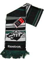 Reebok Face Off Nhl Hockey Team Logo Knit Scarf - Minnesota Wild