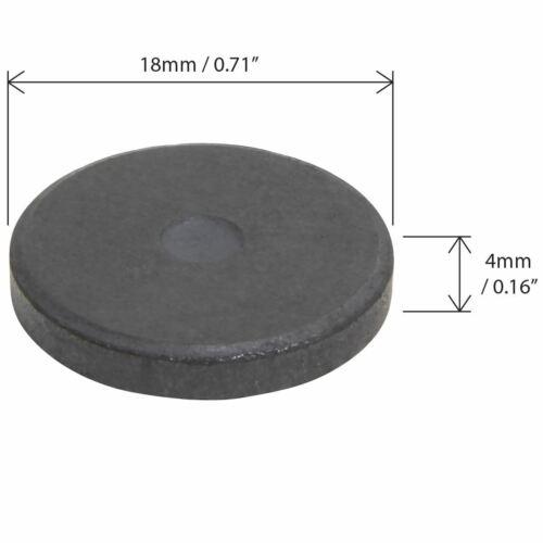 18mm Keramik Rundmagnet Ferrit Magnet Scheibenmagnet Rundmagnete Schwarz Ferrite