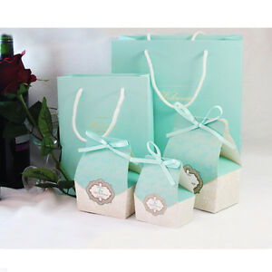 Wedding Gift Bags Boxes : 50pcs-Wedding-Favor-Candy-Boxes-Bags-Flower-Gift-Boxes-Gift-Ribbon ...