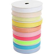 10 Roll Grosgrain Ribbon Set - 10 Light Shade Colors 10 Yds each - 3/8 Width