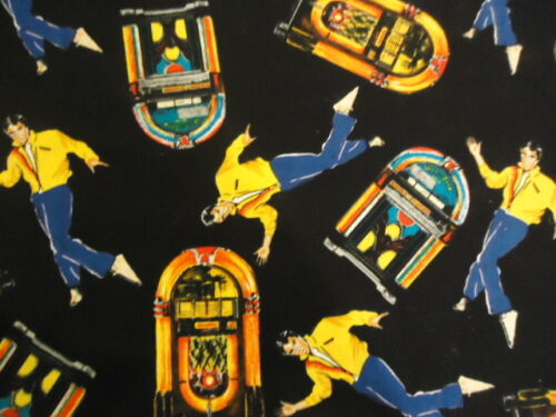 Elvis Jukebox 1956  Shamson And Son  100 /% Cotton  Fat Quarter  New