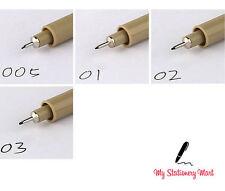 4 Black Fineliners Pens Fine Line Pen Fine Liner Drawing Black Pigment Ink Set
