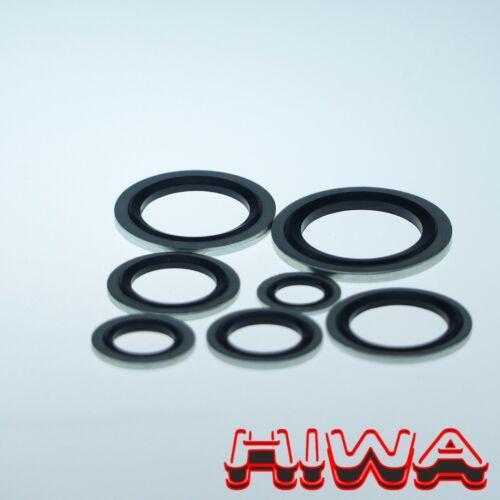 10 piezas juntas metal anillo de goma m10 universal