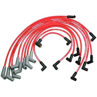 FORD RACING M-12259-R301 Spark Plug Wires Spiral Wound 9mm Red 45 Deg Boots