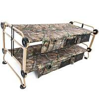 Disc-o-bed X-large Cam-o-bunk Benchable Bunked Realtree Double Cot W/ Organizers on sale