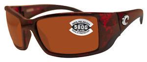 04f90ea479 Details about Costa Del Mar Blackfin Tortoise Frame Copper 580G Glass  Polarized Lens