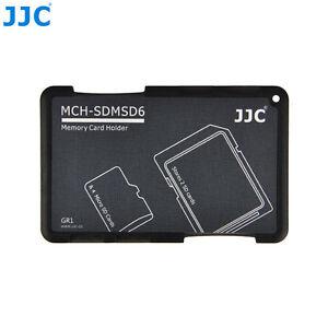 """JJC 0.2"""" Ultra Slim Portefeuille Carte Mémoire Support pour 2 cartes SD + 4 Micro cartes SD"""