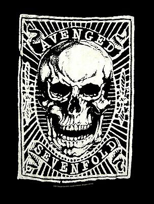 AVENGED SEVENFOLD cd lgo SKULL PATCH Official ROMPER ONE-PIECE SHIRT 12 MONTHS