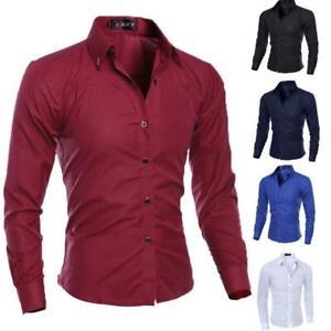 New-Fashion-Mens-Luxury-Casual-Stylish-Slim-Fit-Long-Sleeve-Casual-Dress-Shirts