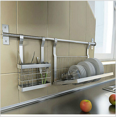 Stainless Steel Kitchen Storage Shelves Knive/drill plate/dish Rack Hanger 2016H