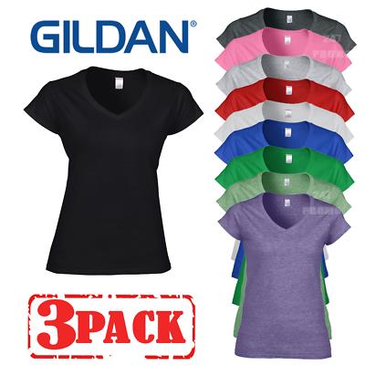 GILDAN LADIES TOP SCOOP NECK 100/% SOFT COTTON T-SHIRT PLAIN BASIC COLOURS S-2XL