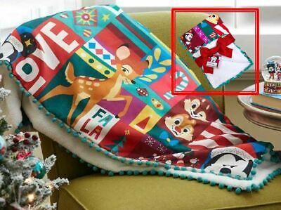 Disney Mickey Mouse Christmas Holiday Cheer Throw Blanket ...