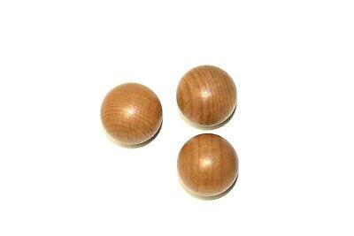 10 Stück Möbelknopf Schubladenknopf Möbelgriff Möbelknauf Holz weiß 27 x 25 mm