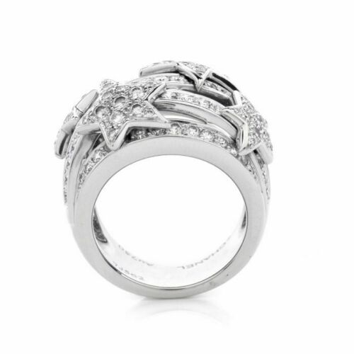 Details about  /1CT White Round Diamond Sparkling Stars Birthday Gift Ring 925 Sterling Silver