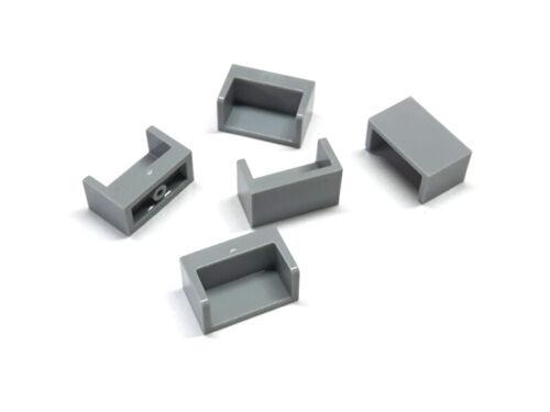 6248492 Lego Paneele 1 x 2 x 1 geschlossene Seiten Hellgrau 5 Stück