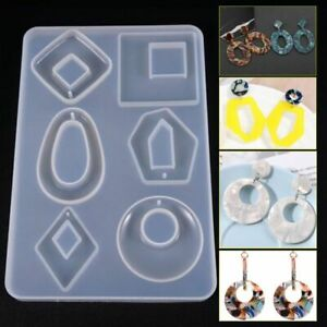 Silicone-Earring-Necklace-Pendant-Mold-Resin-Casting-Mold-Jewelry-Making-Acrylic
