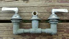 Vtg Antique Faucet Claw Foot Tub Bath Nickel Plated  Hot Cold Handles