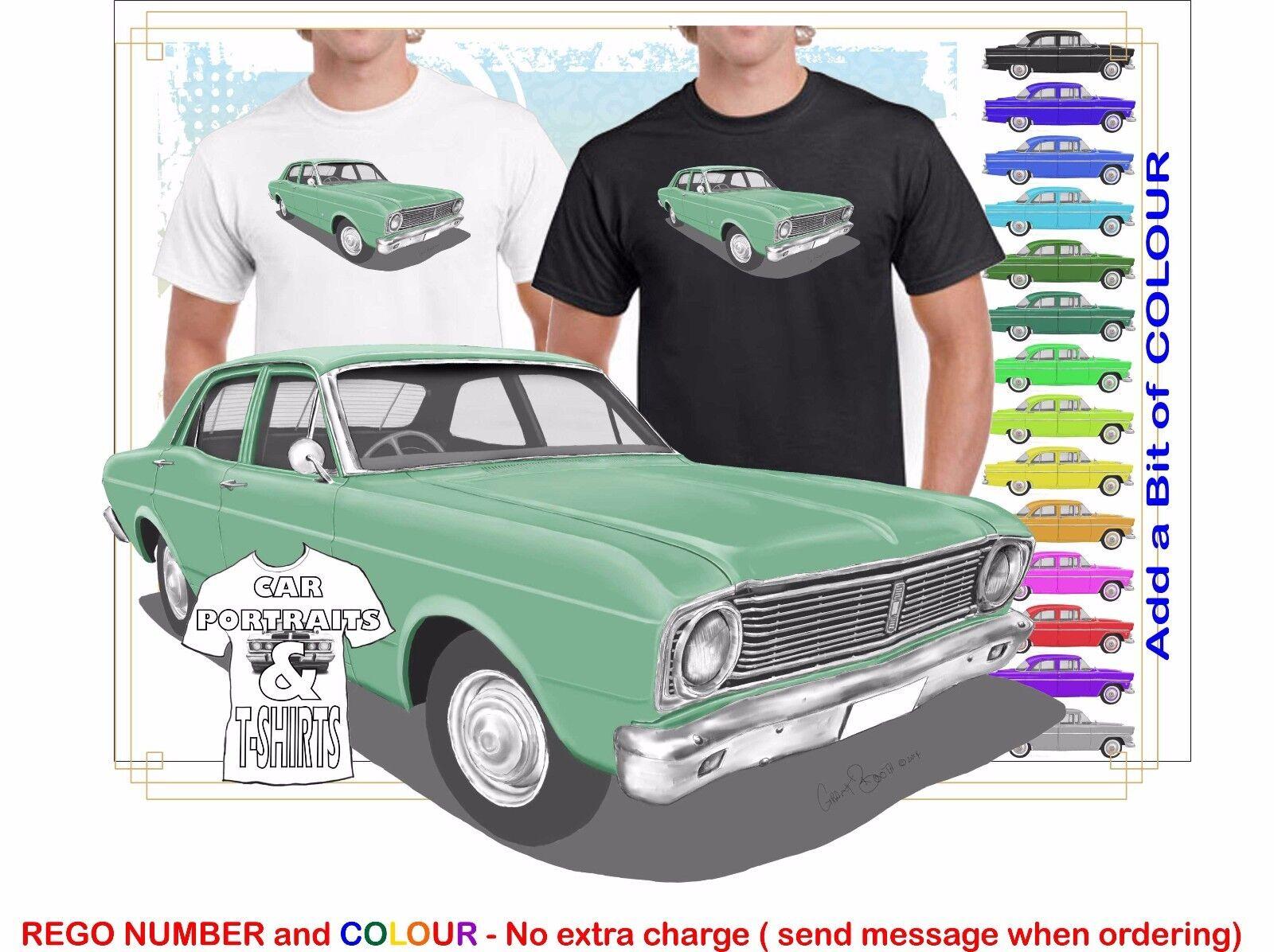 CLASSIC 1968-69 XT FALCON SEDAN ILLUSTRATED T-SHIRT MUSCLE RETRO SPORT CAR