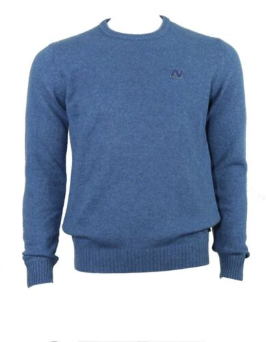 Neck Balance Mix Blue New Jumper Round Wool Avxq60