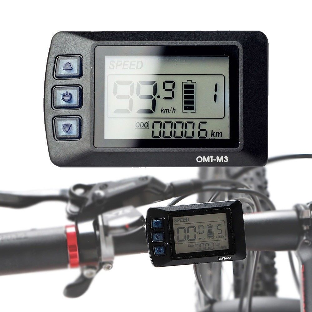 48V Speed Digital LCD Display Panel for Electric Bicycle Controller 500W Ebike
