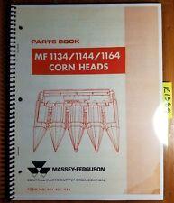 Massey Ferguson Mf 1134 1144 1164 Corn Head Parts Book Manual 651 431 M92 982