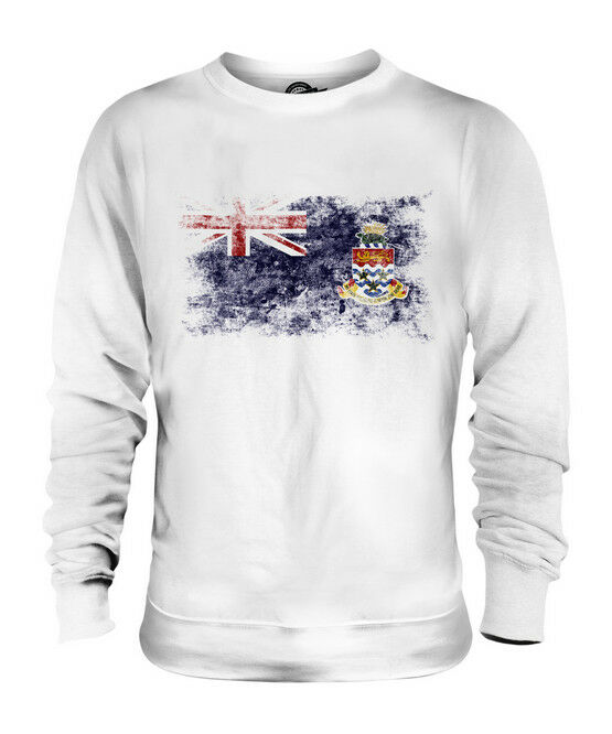 CAYMAN ISLANDS DISTRESSED FLAG UNISEX SWEATER TOP CAYMANIAN SHIRT FOOTBALL GIFT