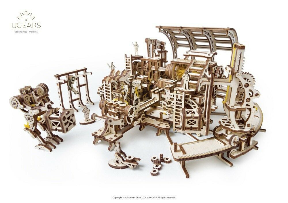 30UGears -MT Robot Factory - 3DWooden Puzzles Mechanical Models Propelled Model