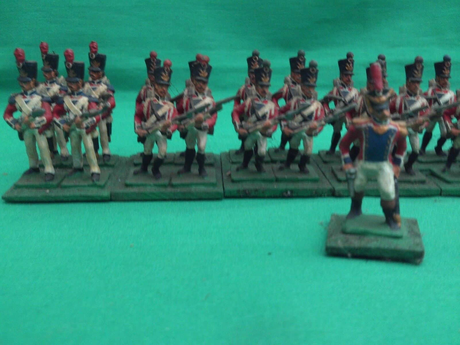 25 28mm EXPERTLY PAINTED & BASED NAPOLEONIC SWISS INFANTRY BATTALION X 27 FGS