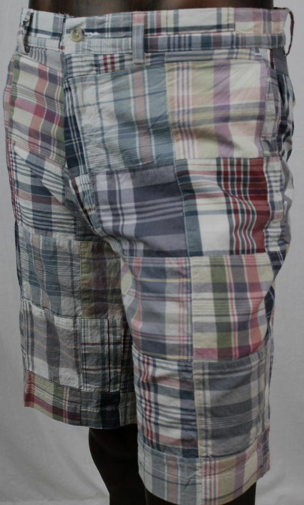 POLO By Ralph Lauren Mens Plaid Patchwork Shorts NWT