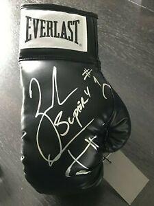 Zab Judah Signed Everlast Red Boxing Glove w//Super