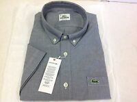 Lacoste Mens Short Sleeve Shirt, Regular Fit Size 41 Large