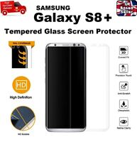FULL 3D Curved REAL TEMPERED GLASS SCREEN Protector For Samsung S8 PLUS CLEAR