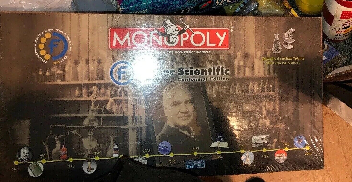 Monopoly Fisher Scientific Collectors Centennial Edition Rare