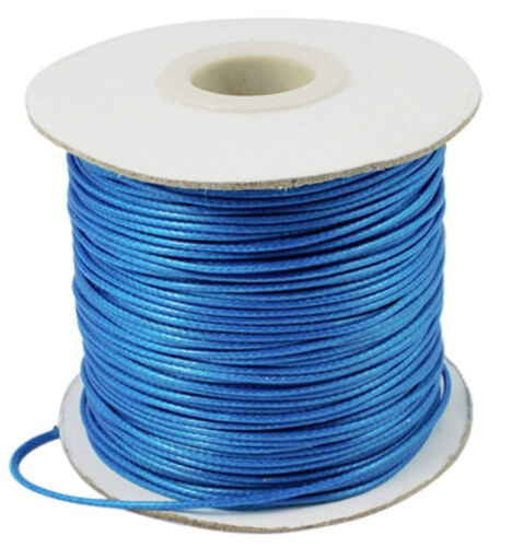7922 1 roll 100 yards Waxed Polyester Cord in deep sky blue