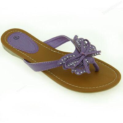 Womens Fashion Flip Flop Sandals Cute Butterfly Flower Thongs Flats Sandal Style