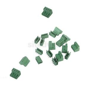 10Pcs-4Pin-4-way-Screw-Terminal-Block-Connectors-5-08mm-Pitch-Panel-PCB-Mount