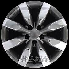 "4 Chrome & Black 2009-2016 Corolla 16"" Hub Caps Full Wheel Covers fit Steel Rims"